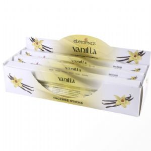 Vanilla Scented Incense Sticks Elements Indian - Tube Of 20